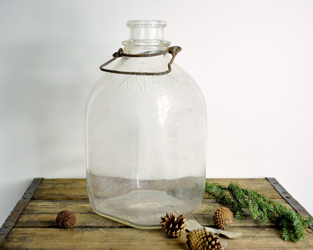 Vintage Glass Bottle Gallon Milk Bottle By Havenvintage