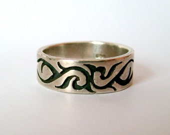 Sterling Silver Tribal Band Ring Size 10