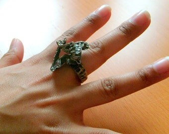 Sterling Silver Modernist Free Form Brutalist Abstract Ring