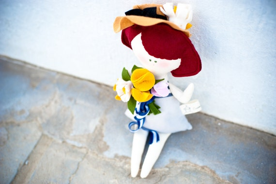 Miss Babette ooak eco friendly Dolls  - handmade in Italy - Ecoloriamo S/S 2012 collection