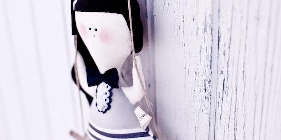 Orietta ooak eco friendly mobile Doll- handmade in Italy - Ecoloriamo S/S 2012 collection