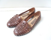 Reserved for Uyen Vintage woven leather flats