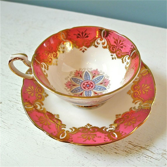 Vintage Paragon Fine Bone China Cup and Saucer Gorgeous
