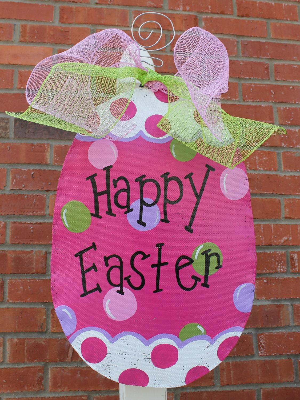 Easter Egg Door Decor By Abossard On Etsy