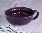 Cereal bowl, Kitchen Serving Soup Mug Bowl Handmade Pottey Ceramic eggplant Purple Lavender Blush, Serving Cereal Chowder