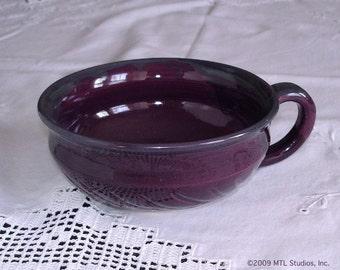 Cereal bowl, Kitchen Serving Soup Mug Bowl Handmade Pottey Ceramic eggplant Purple Lavender Blush, Serving Cereal Chowder