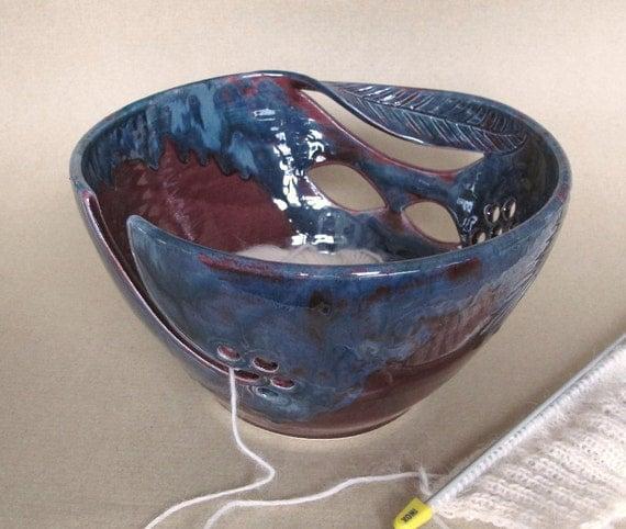 KNITTING yarn bowl, Wool Crochet Bowl, Yarn Bowls, LARGE, Lavender Blush, As seen at Vogue Knitting