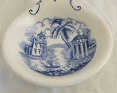 Vintage Maddock Bombay Blue And White Dish Made In England rare
