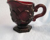 Ruby red Cape Cod creamer made by Avon