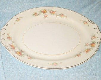 Homer Laughlin  Countess  Eggshell Georgian large oval serving platter