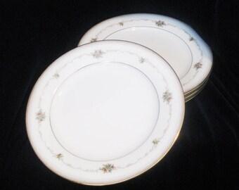 Vintage Noritake China Joanne Bread Plates(4)