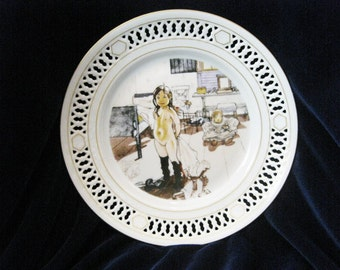 Larsson Plate  Mamas & Little Girls  By Bing And Grondahl