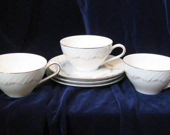 Style House Largo Tea Cups And Saucers Japan(6pcs)