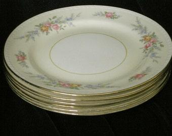 Homer Laughlin Cashmere Dessert Plates(6)Circa 1941