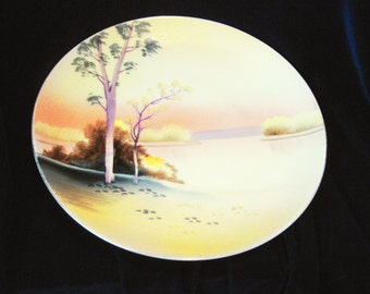 Meito China Made In Japan Hand Painted Plate