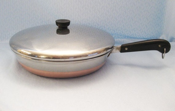 Vintage Revere Ware 12 Inch Fry Pan With Lid