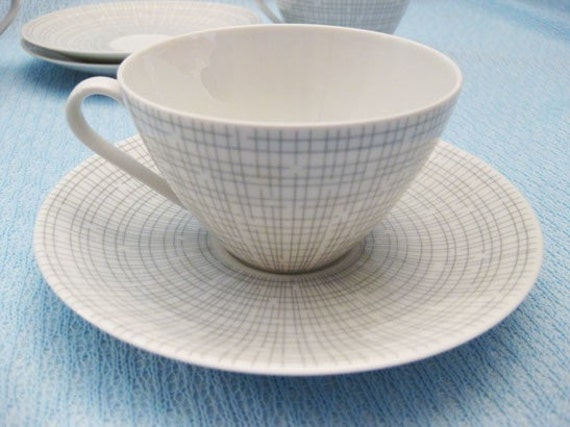 Arzberg Germany Teacups & Saucers pattern-Filigran (6)