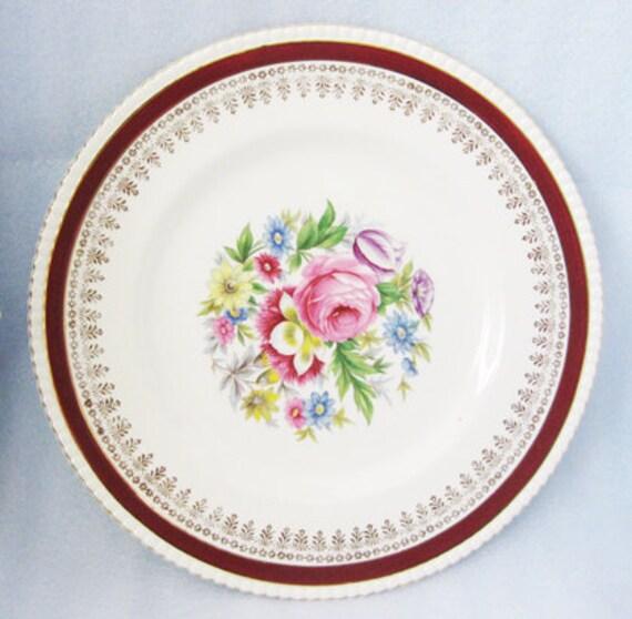 "Royal Ascot Large Plate Pattern ""Cardinal"" England"