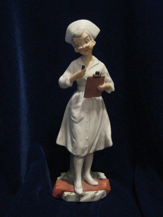 Vintage Andrea Sadek Nurse Figurine Item By