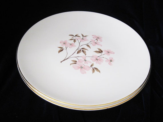 Knowles Pink Dogwood Dinner Plates Designed By Kalla(2)