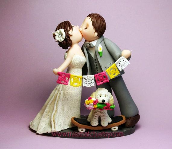 DEPOSIT - Flag Bunting Banner Papel Picado Wedding Cake Topper