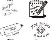 Custom Rubber stamp for teacher-self ink made to order
