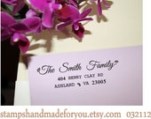 Legacy Handwriting Script Custom Rubber Stamp - SAVE the DATE Personalized Wedding Stationery Self Inking Address Stamper