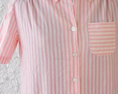 MOVING SALE - Vintage Pink Candy Stripe Duster - S/M
