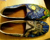 Van Gogh Painted Shoes