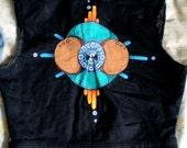 SALE! Black Denim Painted Vest