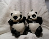 "I made these pandas, start to finish from porcelain slip a liquid clay.3 1/2"" tall 2""wide.postage included."