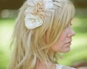 Bridal Wedding Headband, Bridal, Feather Tiara, Head piece, 523