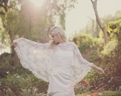 Miranda - Embroidered Lace Bridal Cape, Capelet, Cover up, 414