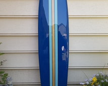 Surfboard wall hanging, 4 foot x 11 1/2 inch wall art, hawaiian decor,tiki surfboard