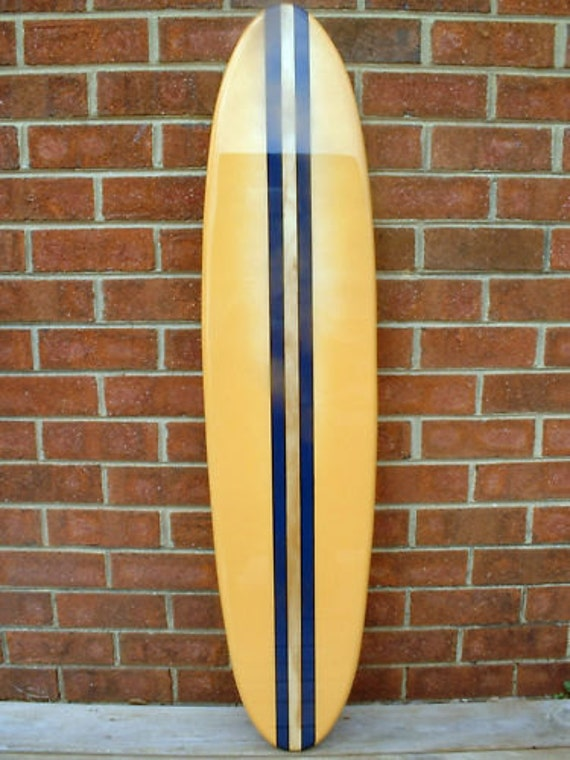Surfboard wall hanging, five foot surfboard beach decor, beach art