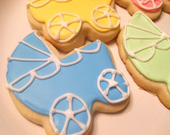 Custom listing Baby Carriage Cookie Favors (36 favors)