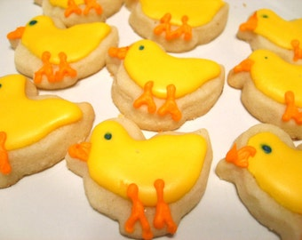 Mini Spring Chicks Sugar Cookies
