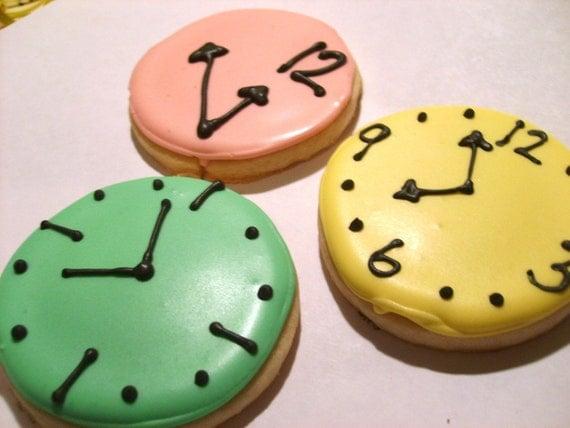 Tick tock Custom clock sugar cookies (3 dozen)