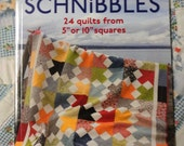 "Craft Book Another Bite of Schnibbles 24 quilts from 5"" or 10"" squares Quilting Pattern Book"
