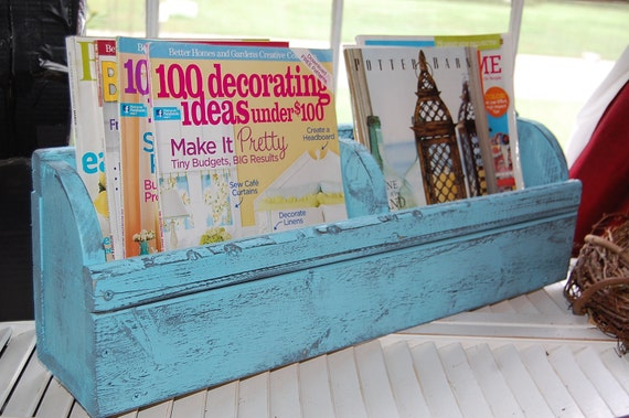 Handmade Shabby Chic two foot wall organizer in Color of your choice