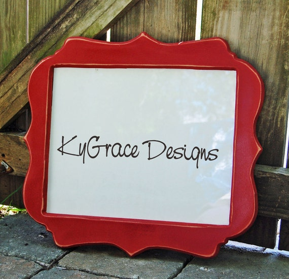 4x6 up to 16x20 Painted  Custom shape frame painted to match your decor  FREE SHIPPING