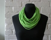 RESERVED for Kimm: Recycled Strand Scarf - Bright Green