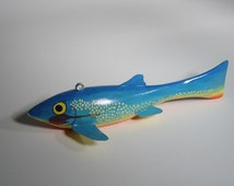 Yellow-eyed Blue fish spear fishing decoy