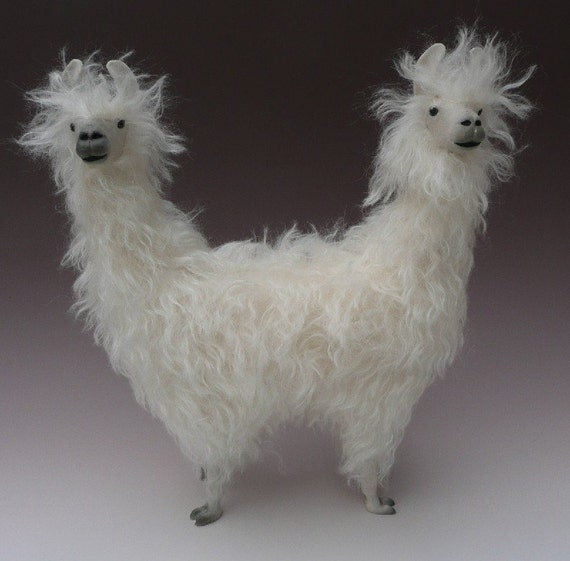 Push Me Pull You, Lamas in Porcelain and Mohair