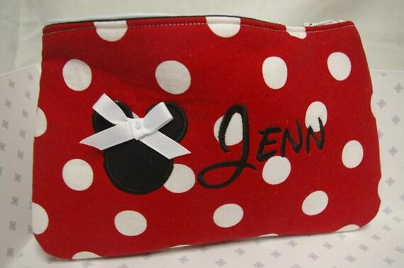 Custom Minnie Cosmetic Bag....FREE PERSONALIZATION