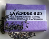 Lavender Handmade Soap with Lavender Essential Oil and Lavender Buds plus Shea Butter