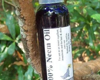 Neem Oil 100 percent - 2 ounce bottle