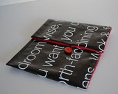 Ipad cover made from black recycled real estate sign