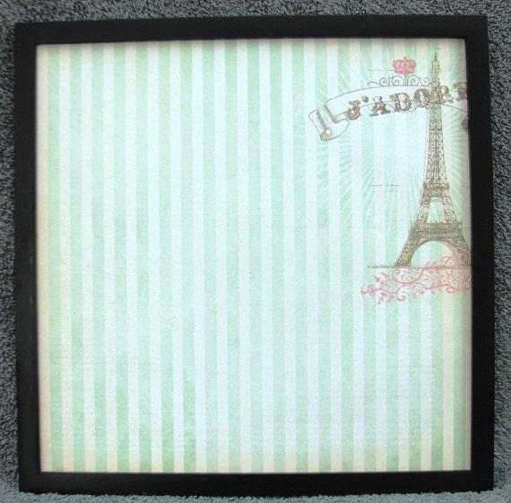 Paris, Eiffel Tower, J'Adore Decorative Wall Art, Magnetic Board, Home Decor