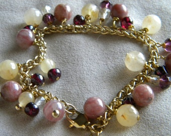 Jade and Gems Charm Bracelet